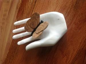 Basswood Hand. Moth Maple &Ebony