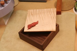 Quilted Maple top. Pink Ivory wood Leaf.